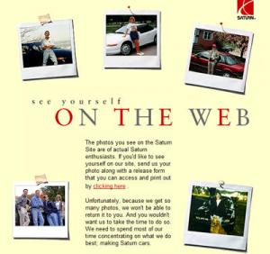Flashback Friday: 1998 Saturn Website