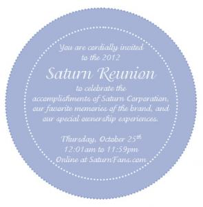 2012 Saturn Reunion Invitation