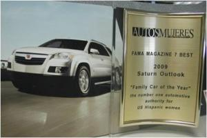 "Outlook Named ""Family Car of the Year"""