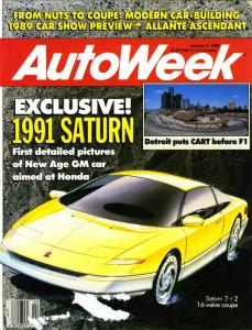 Flashback Friday: Sketch of the Upcoming Saturn SC on a 1989 Cover of AutoWeek