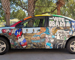 "Florida Saturn Owner Turns Her Ion in an ""Obama Car"""