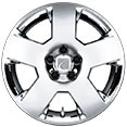 "Saturn Aura 17"" Five-Spoke Chromed Wheel Covers"