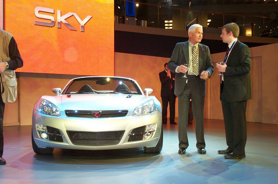 Bob Lutz with Saturn SKY