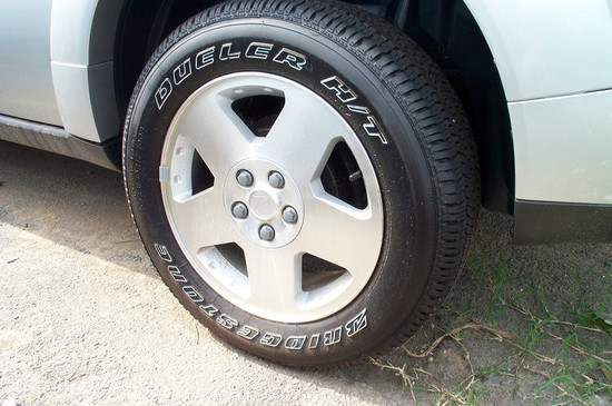 White Outlined Tires