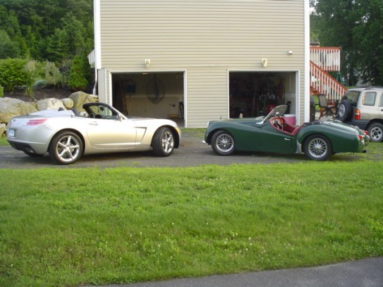 2007 Sky and  1959 TR3