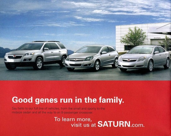 Saturn 2008 Full Line Brochure