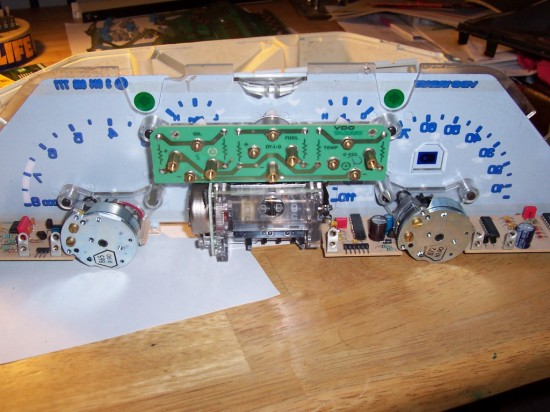 Back of Faceplate with Odometer Cluster in Place