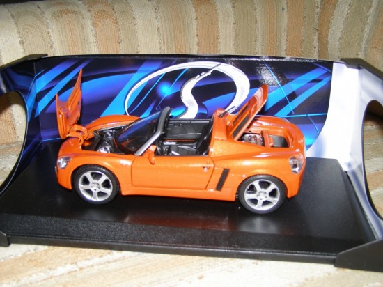 "Opel ""Speedster"" die cast model purchased at GM's Test Track"
