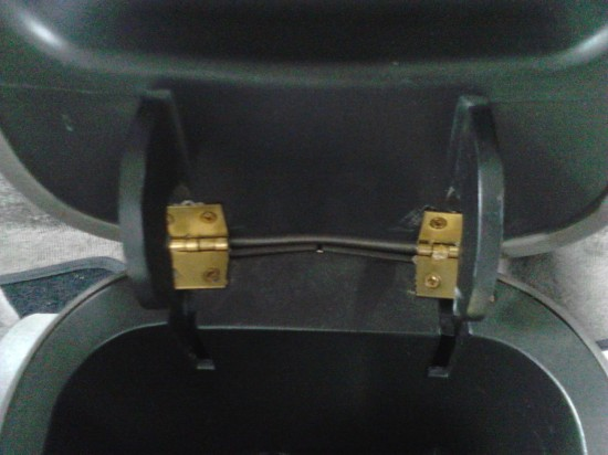 DIY repair of center console broken hinges