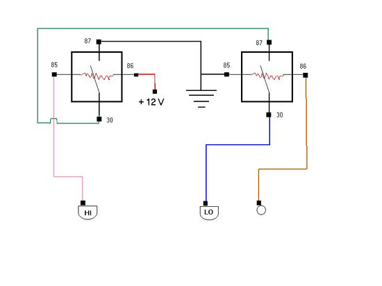 hi lo relay wiring diagram wiring diagram info hi lo relay wiring diagram saturnfans photo forums hi lo relay wiring diagram