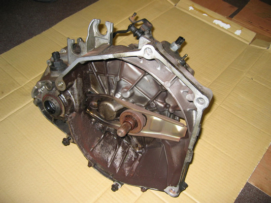 Transaxle assembly, prior to rebuild (clutch side)
